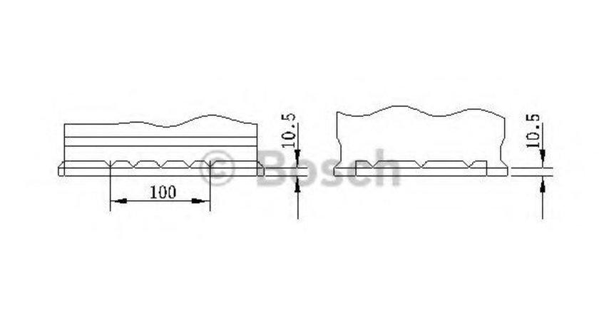 Baterie de pornire AUDI A3 (8P1) (2003 - 2012) BOSCH 0 092 S40 100 piesa NOUA