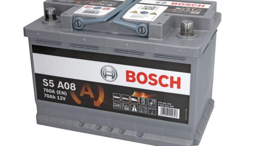 Baterie de pornire AUDI A4 (8EC, B7) (2004 - 2008) BOSCH 0 092 S5A 080 piesa NOUA