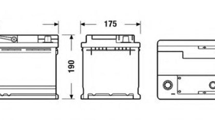 Baterie de pornire AUDI A4 Avant (8ED, B7) (2004 - 2008) EXIDE EB1100 piesa NOUA