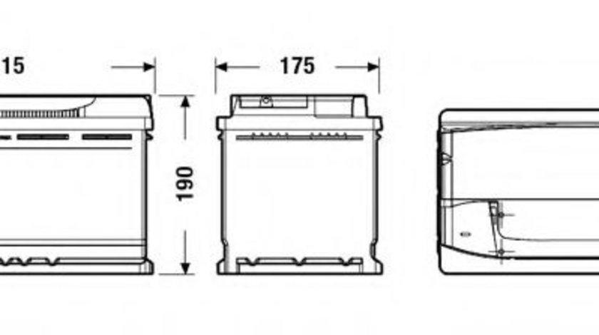 Baterie de pornire AUDI A5 (8T3) (2007 - 2016) EXIDE EA900 piesa NOUA