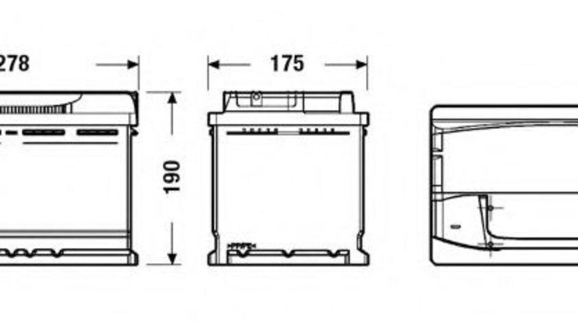 Baterie de pornire BMW Seria 3 (E46) (1998 - 2005) EXIDE EA770 piesa NOUA
