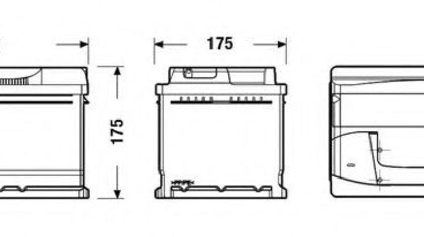 Baterie de pornire BMW Seria 5 (E39) (1995 - 2003) EXIDE EB712 piesa NOUA