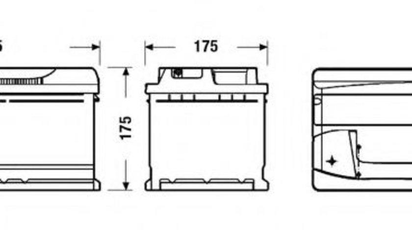 Baterie de pornire BMW Seria 5 (E60) (2003 - 2010) EXIDE _EB802 piesa NOUA