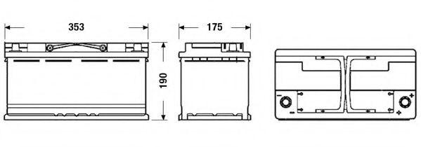 Baterie de pornire BMW X3 (E83) (2004 - 2011) EXIDE EK950 piesa NOUA