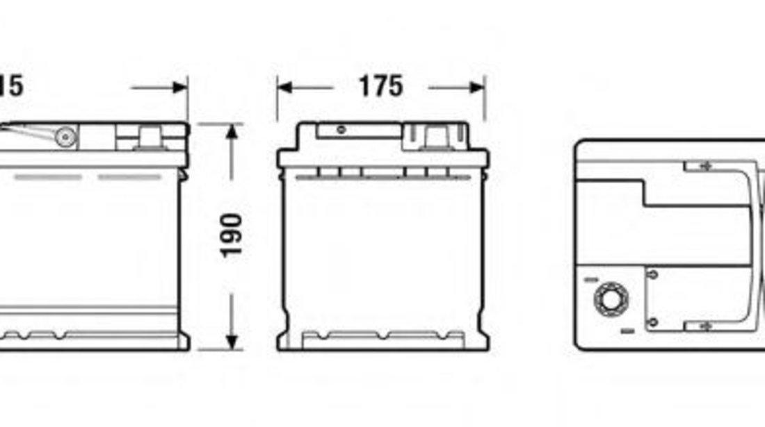 Baterie de pornire BMW X3 (E83) (2004 - 2011) EXIDE EK800 piesa NOUA