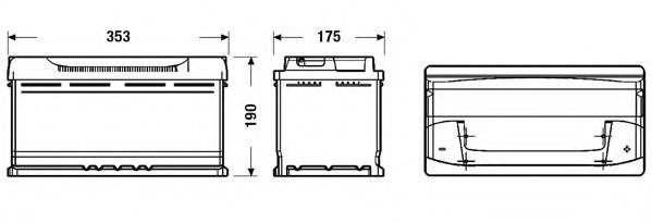 Baterie de pornire BMW X3 (E83) (2004 - 2011) EXIDE EB950 piesa NOUA