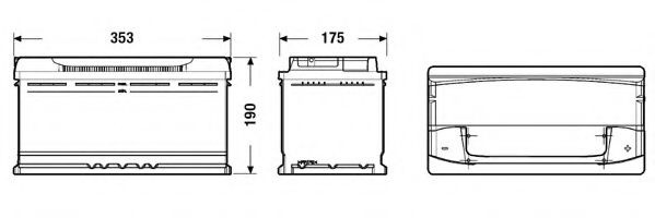 Baterie de pornire BMW X3 (E83) (2004 - 2011) EXIDE _EA1000 piesa NOUA