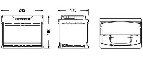 Baterie de pornire BMW X3 (E83) (2004 - 2011) EXIDE _EA640 piesa NOUA