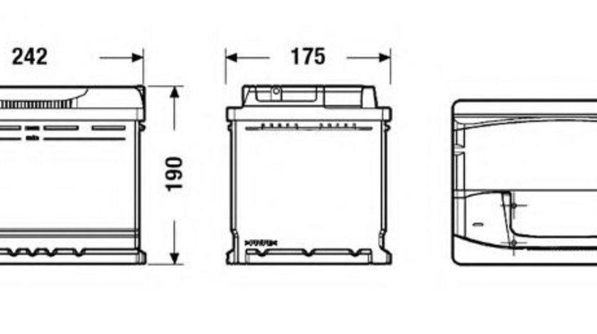 Baterie de pornire BMW X3 (E83) (2004 - 2011) EXIDE EA640 piesa NOUA
