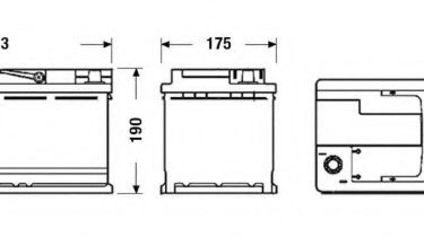 Baterie de pornire BMW X3 (F25) (2010 - 2016) EXIDE EK950 piesa NOUA