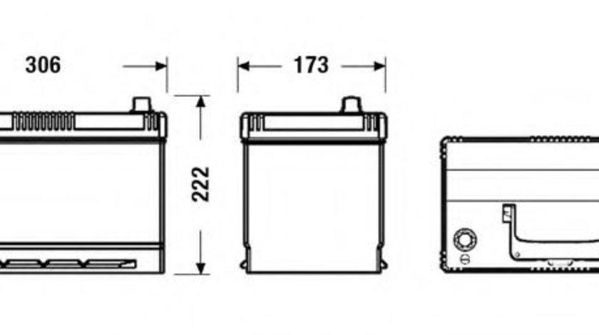 Baterie de pornire HYUNDAI TUCSON (JM) (2004 - 2010) EXIDE EB954 piesa NOUA