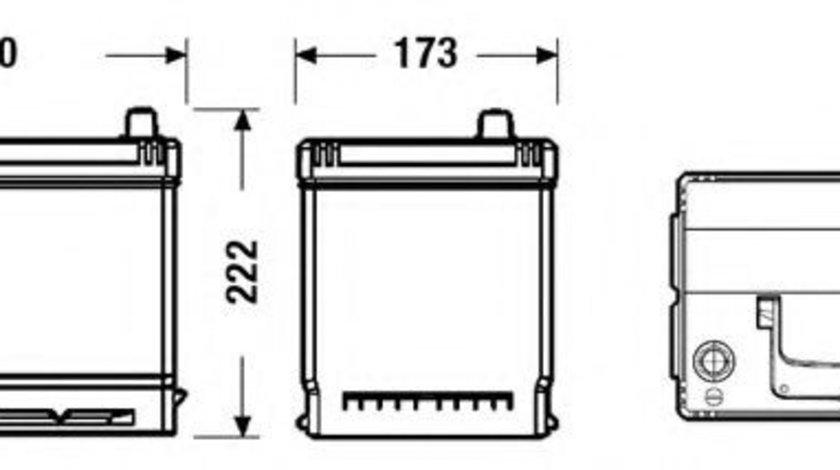 Baterie de pornire KIA MAGENTIS (MG) (2005 - 2016) EXIDE EB704 piesa NOUA