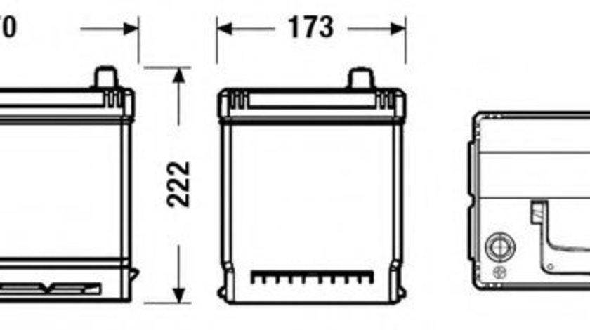 Baterie de pornire KIA MAGENTIS (MG) (2005 - 2016) EXIDE EB705 piesa NOUA