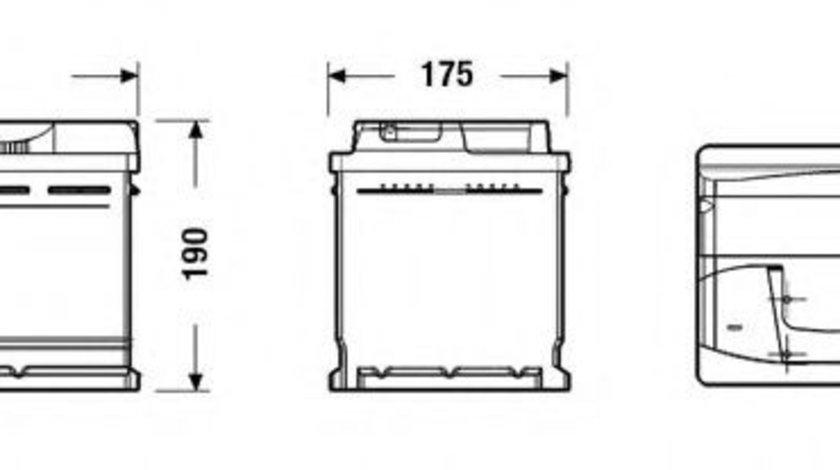 Baterie de pornire MERCEDES C-CLASS (W202) (1993 - 2000) EXIDE EB740 piesa NOUA