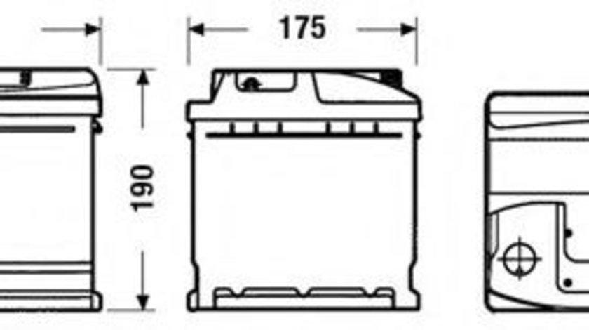 Baterie de pornire MERCEDES C-CLASS (W202) (1993 - 2000) EXIDE _EC900 piesa NOUA