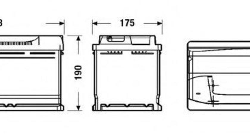 Baterie de pornire MERCEDES C-CLASS (W202) (1993 - 2000) EXIDE _EB950 piesa NOUA