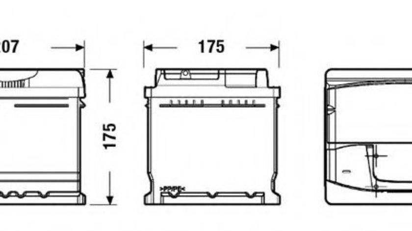 Baterie de pornire RENAULT CLIO II (BB0/1/2, CB0/1/2) (1998 - 2005) EXIDE EA472 piesa NOUA