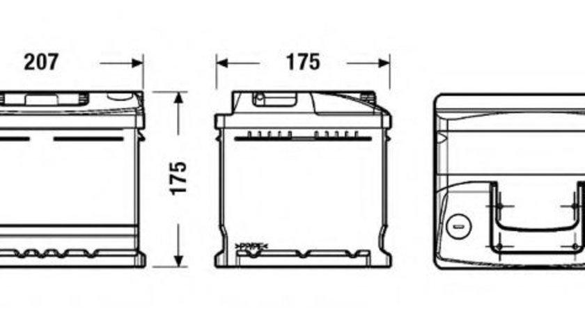 Baterie de pornire RENAULT CLIO II (BB0/1/2, CB0/1/2) (1998 - 2005) EXIDE EC412 piesa NOUA