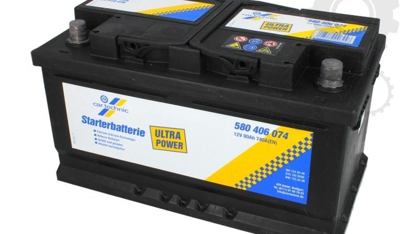 Baterie de pornire RENAULT VEL SATIS (BJ0_) Producator CARTECHNIC 580406074