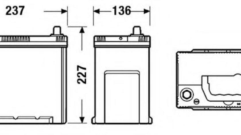 Baterie de pornire SUZUKI SX4 S-Cross (2013 - 2016) EXIDE EA456 piesa NOUA
