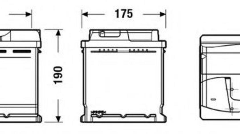 Baterie de pornire VOLVO S60 I (2000 - 2010) EXIDE EB620 piesa NOUA