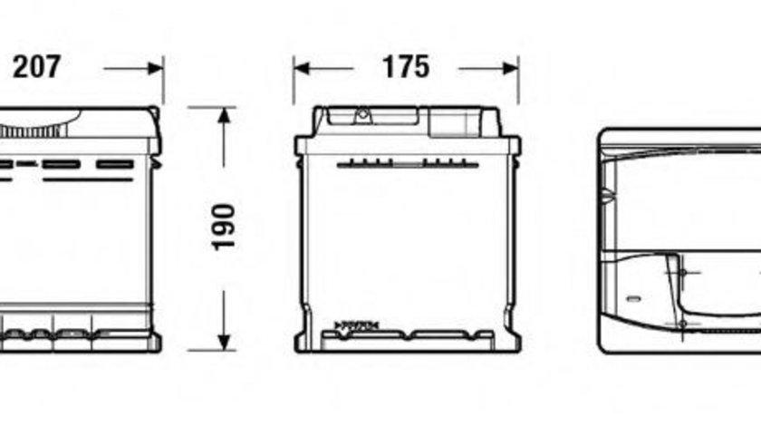 Baterie de pornire VW GOLF V (1K1) (2003 - 2009) EXIDE EA530 piesa NOUA
