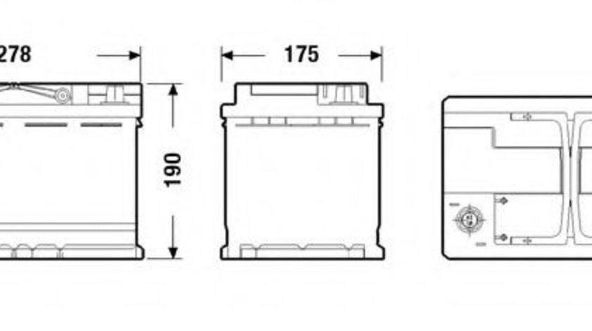 Baterie de pornire VW PASSAT CC (357) (2008 - 2012) EXIDE EK700 piesa NOUA