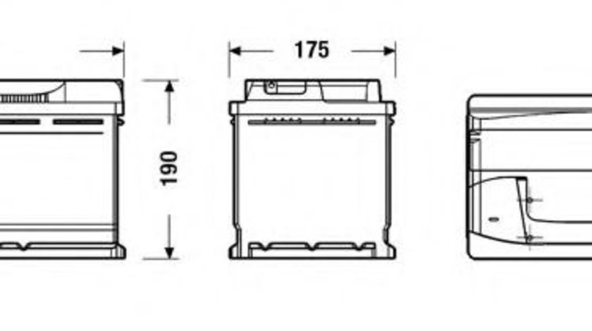 Baterie de pornire VW PASSAT CC (357) (2008 - 2012) EXIDE EB800 piesa NOUA