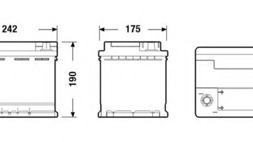 Baterie de pornire VW SHARAN (7N1, 7N2) (2010 - 2016) EXIDE EK600 piesa NOUA
