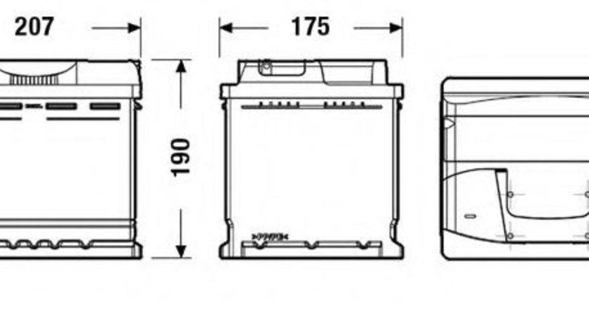 Baterie de pornire VW TOURAN (1T1, 1T2) (2003 - 2010) EXIDE EB500 piesa NOUA