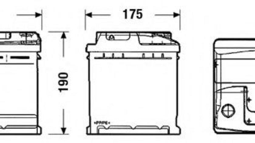 Baterie de pornire VW TRANSPORTER IV bus (70XB, 70XC, 7DB, 7DW, 7DK) (1990 - 2003) EXIDE EC550 piesa NOUA