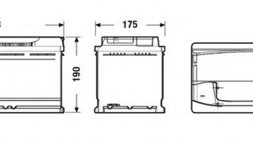 Baterie de pornire VW TRANSPORTER V platou / sasiu (7JD, 7JE, 7JL, 7JY, 7JZ, 7FD) (2003 - 2016) EXIDE EA1000 piesa NOUA
