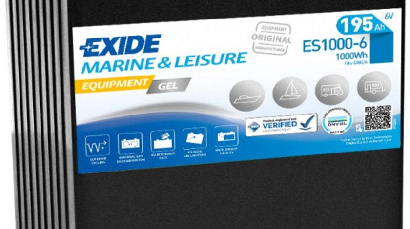 Baterie EXIDE 6V 190Ah GEL (R+ Borna standard) 245x190x275 B00 - fara flansa montare Aplicatii duale cod intern: CI9379CK