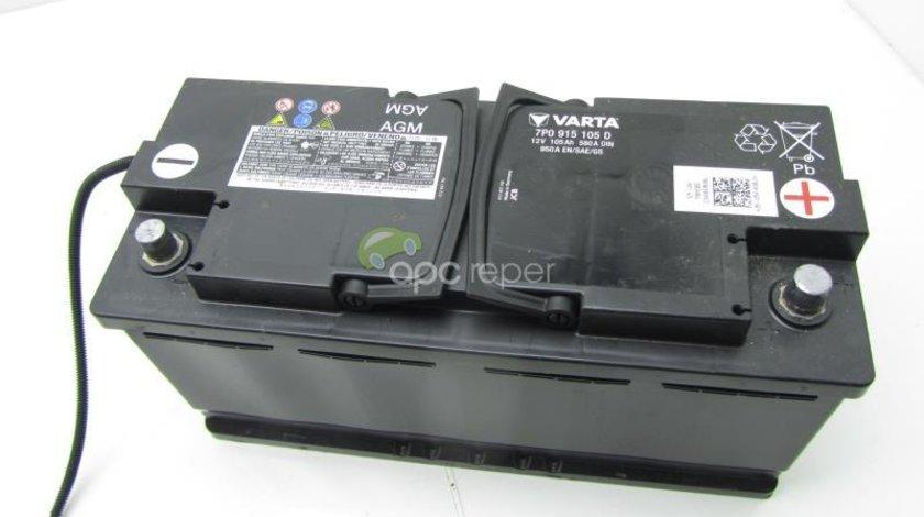 Baterie Originala cu Gel AGM Audi - VW AGM cod 7P0915105D 12V 105Ah