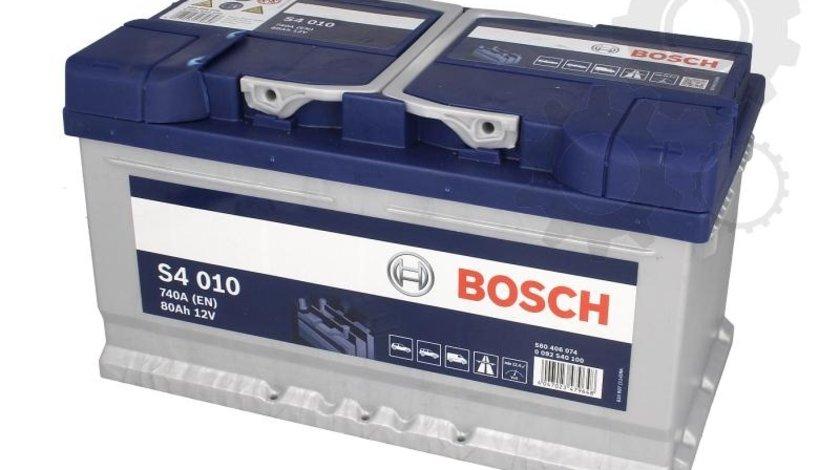 Baterie pornire bosch argint s4 010 80ah 740a