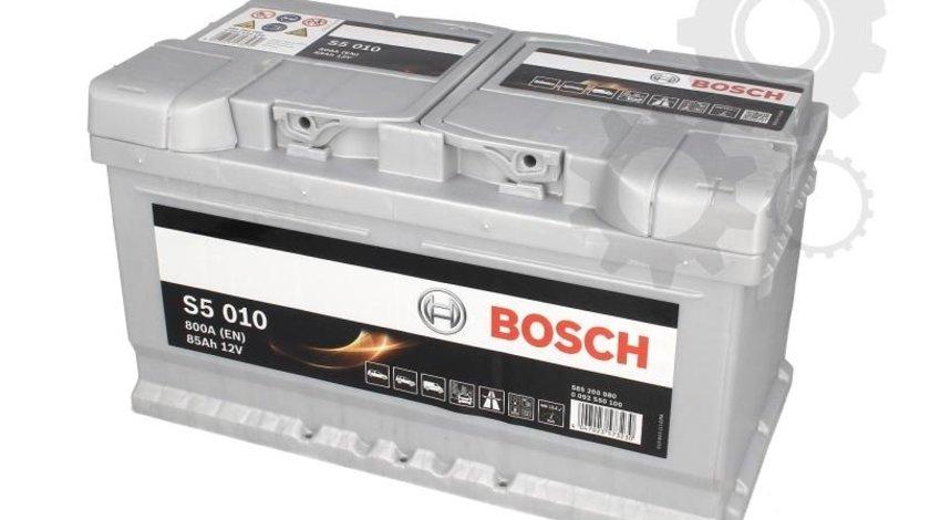 Baterie pornire bosch silver s5 010 85ah 800a