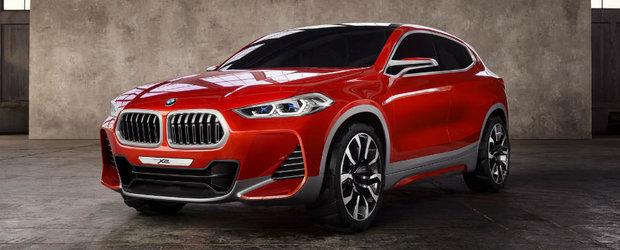 Bavarezii de la BMW revolutioneaza ideea de SUV coupe. Noul concept X2 prezentat la Salonul Auto de la Paris