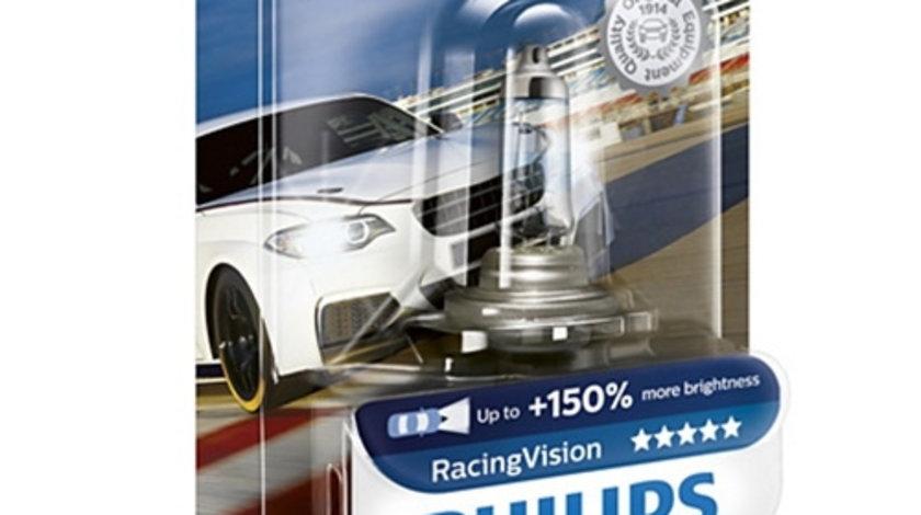 Bec auto far halogen Philips H7 RacingVision, +150%, 12V, 55W