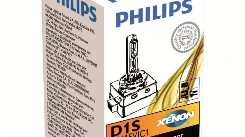 Bec auto Xenon pentru far Philips D1S Vision 85V 35W 1 Buc
