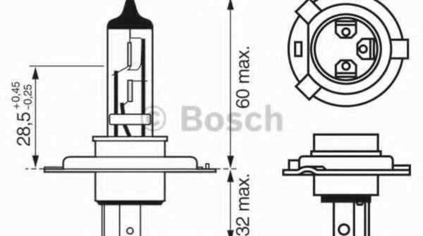 Bec, far faza lunga AUDI 80 (8C, B4) Producator BOSCH 1 987 302 049