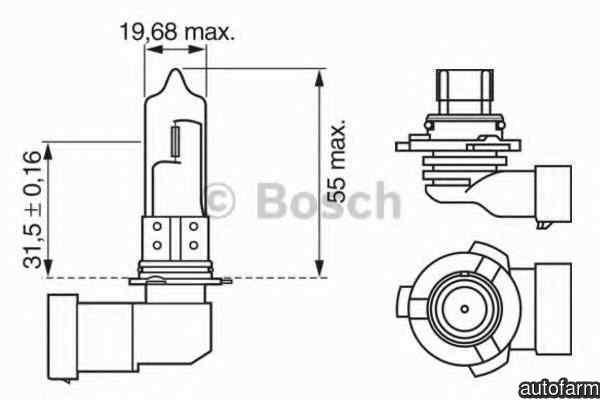 Bec, far faza lunga BMW X5 (E53) BOSCH 1 987 302 152