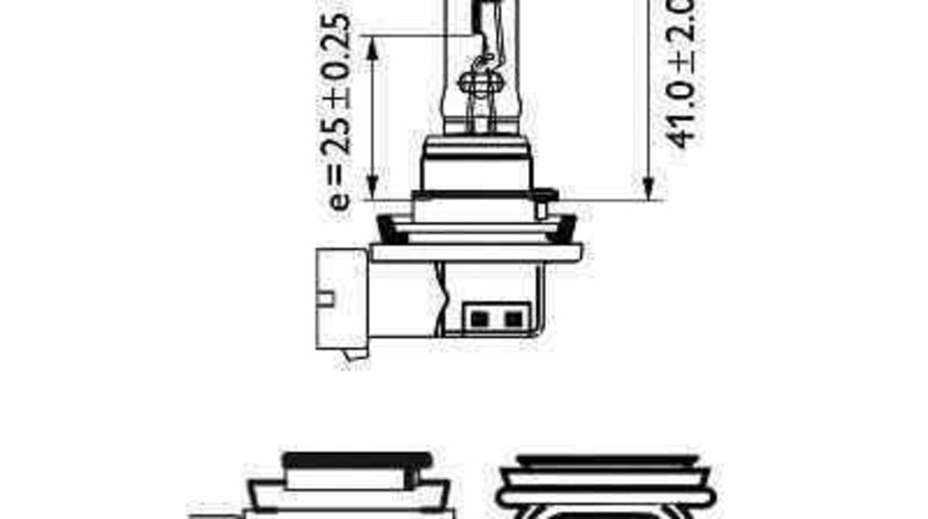 Bec far faza lunga CHRYSLER VOYAGER IV RG RS PHILIPS 12361B1