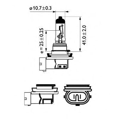 Bec, far faza lunga VOLVO C30 (2006 - 2012) PHILIPS 12362WHVB1 piesa NOUA