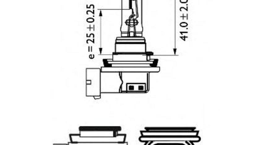 Bec, far faza lunga VOLVO C30 (2006 - 2012) PHILIPS 12362PRC1 piesa NOUA
