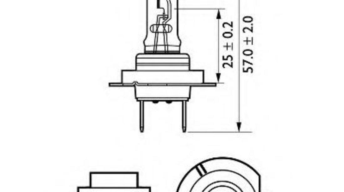 Bec, far faza lunga VOLVO C30 (2006 - 2012) PHILIPS 12972LLECOS2 piesa NOUA