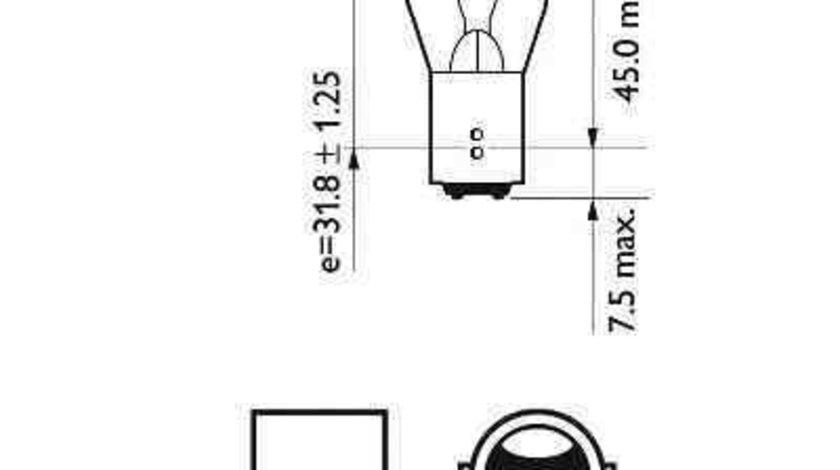 Bec, lampa frana / lampa spate FORD C-MAX II PHILIPS 12495CP