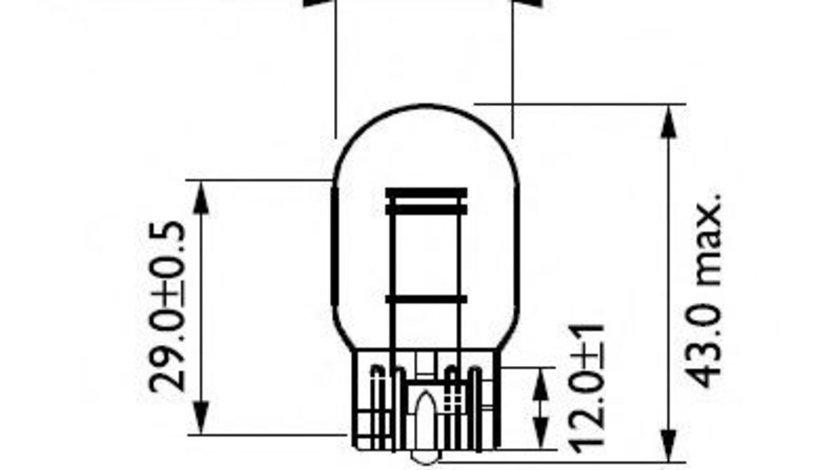 Bec, lampa frana / lampa spate NISSAN PATHFINDER II (R50) (1995 - 2004) PHILIPS 12066B2 piesa NOUA