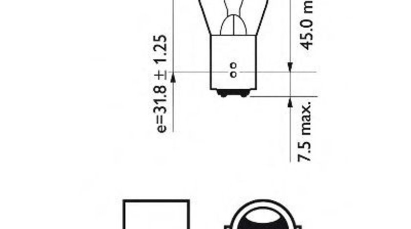Bec, lampa frana / lampa spate SAAB 9-3 Cabriolet (YS3F) (2003 - 2016) PHILIPS 12495CP piesa NOUA