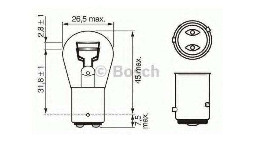 Bec lampa frana / lampa spate Skoda Fabia 1(1999-2008)[6Y2] #3 1122