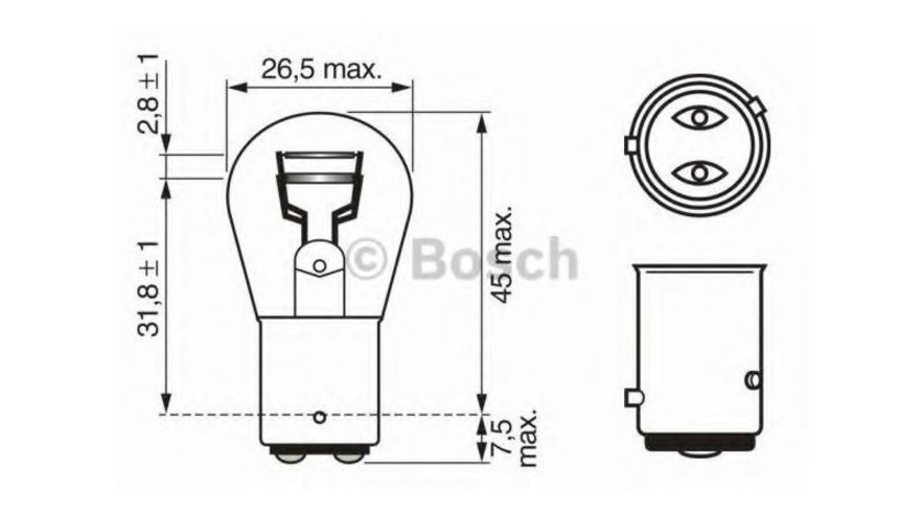 Bec lampa frana / lampa spate Volkswagen Passat B5(1996-2005) #3 1122